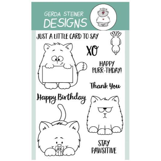 All Cats- Gerda Steiner Designs 4X6 Clear Stamp Set