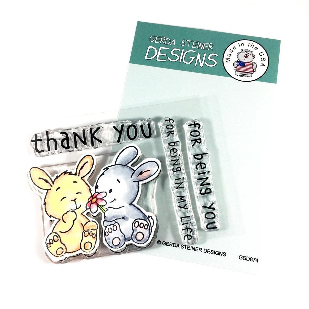 Bunny Friends 3x4 Clear Gerda Steiner Stamp Set