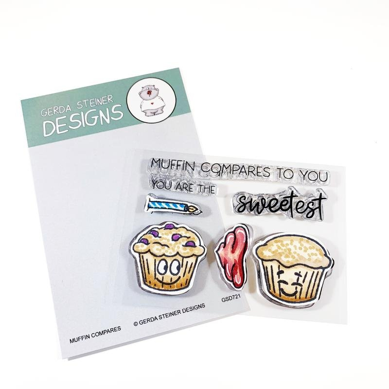 Muffin Compares to You 3x4 Clear Stamp Set Gerda Steiner