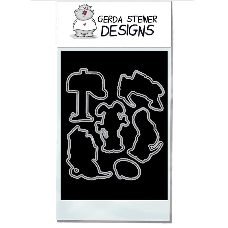 Puppy Mail- Gerda Steiner Designs 4X6 Die Set -