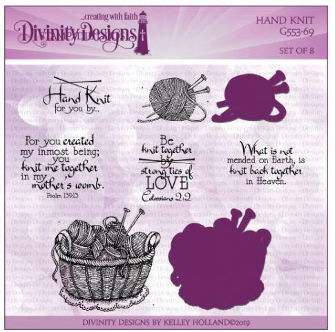 Hand Knit Stamp & Die Set- Divinity Designs