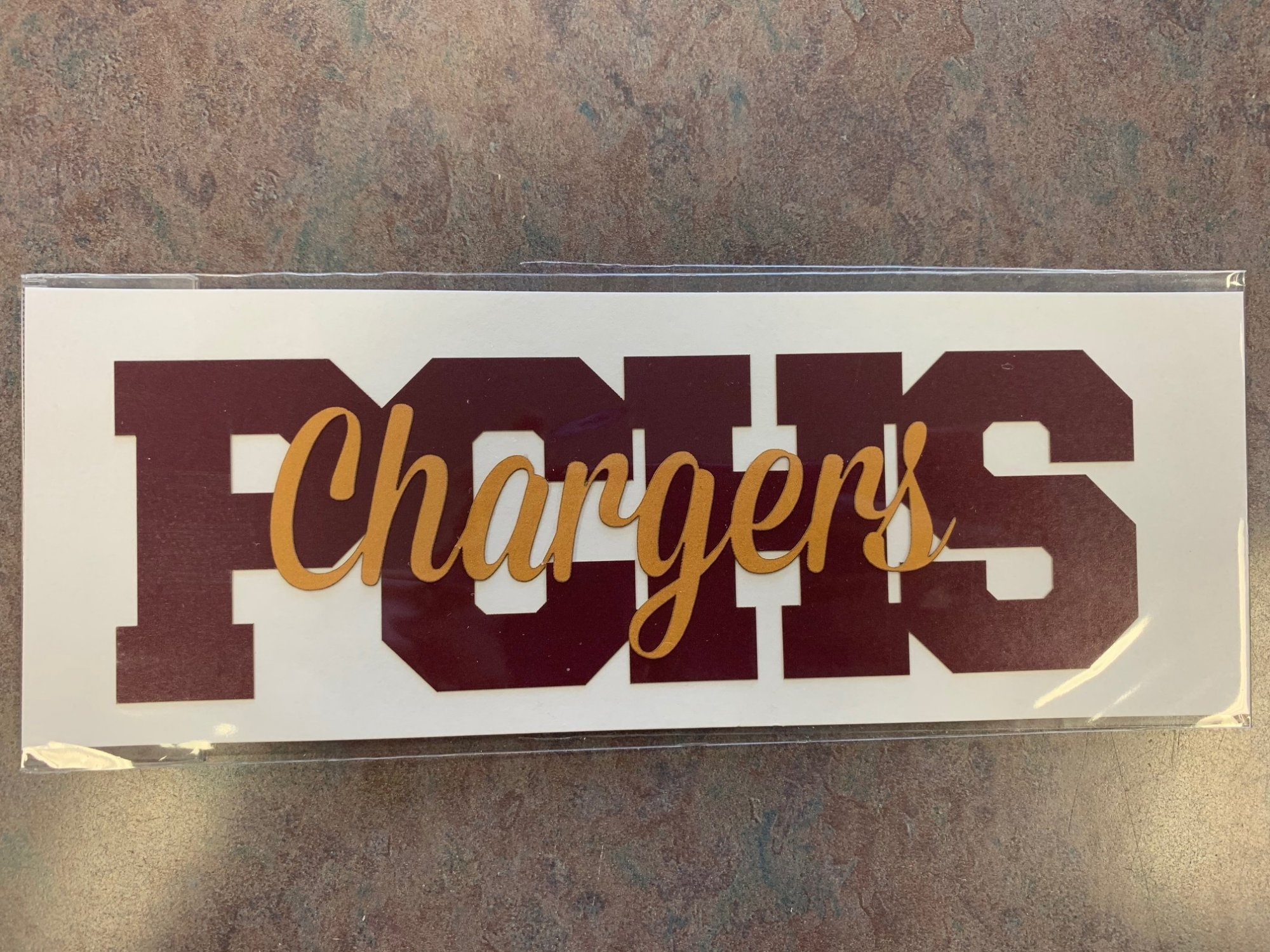 PCHS Chargers Title Die Cut
