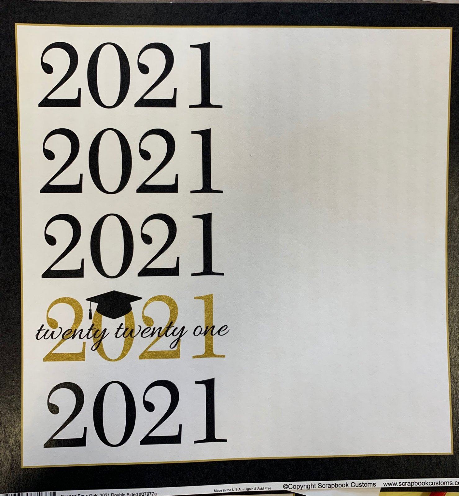2021 Capped Gold 12x12 Paper