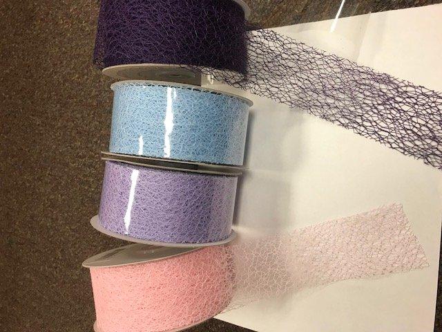 2 Web Ribbon- Pastel Blue