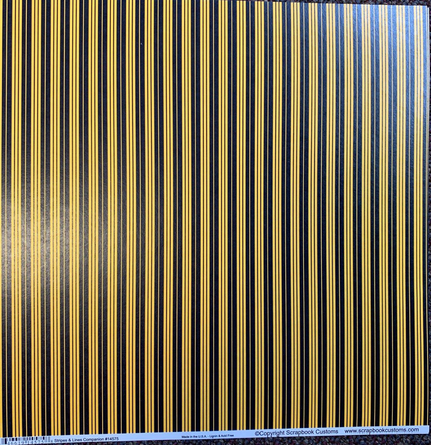 Strips & Lines Custom School Colors Paper