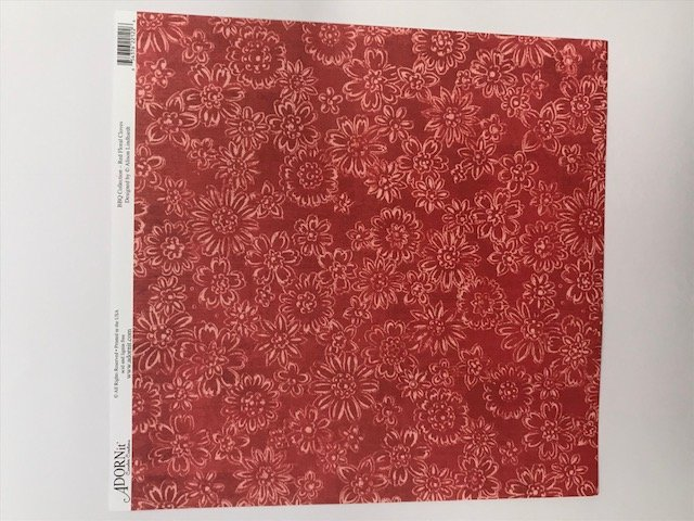 Red Floral Cloves- 12X12 Adornit Paper