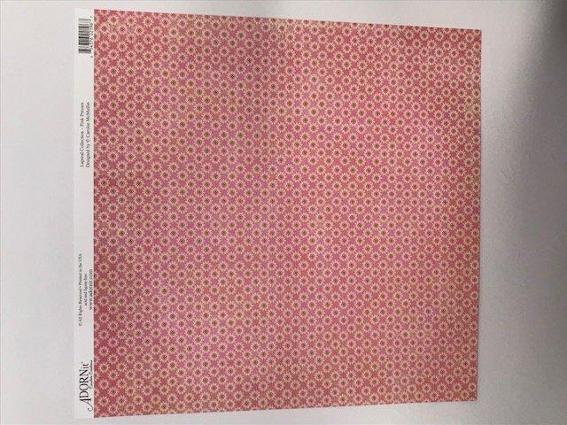 Pink Presses- 12X12 Adornit Paper