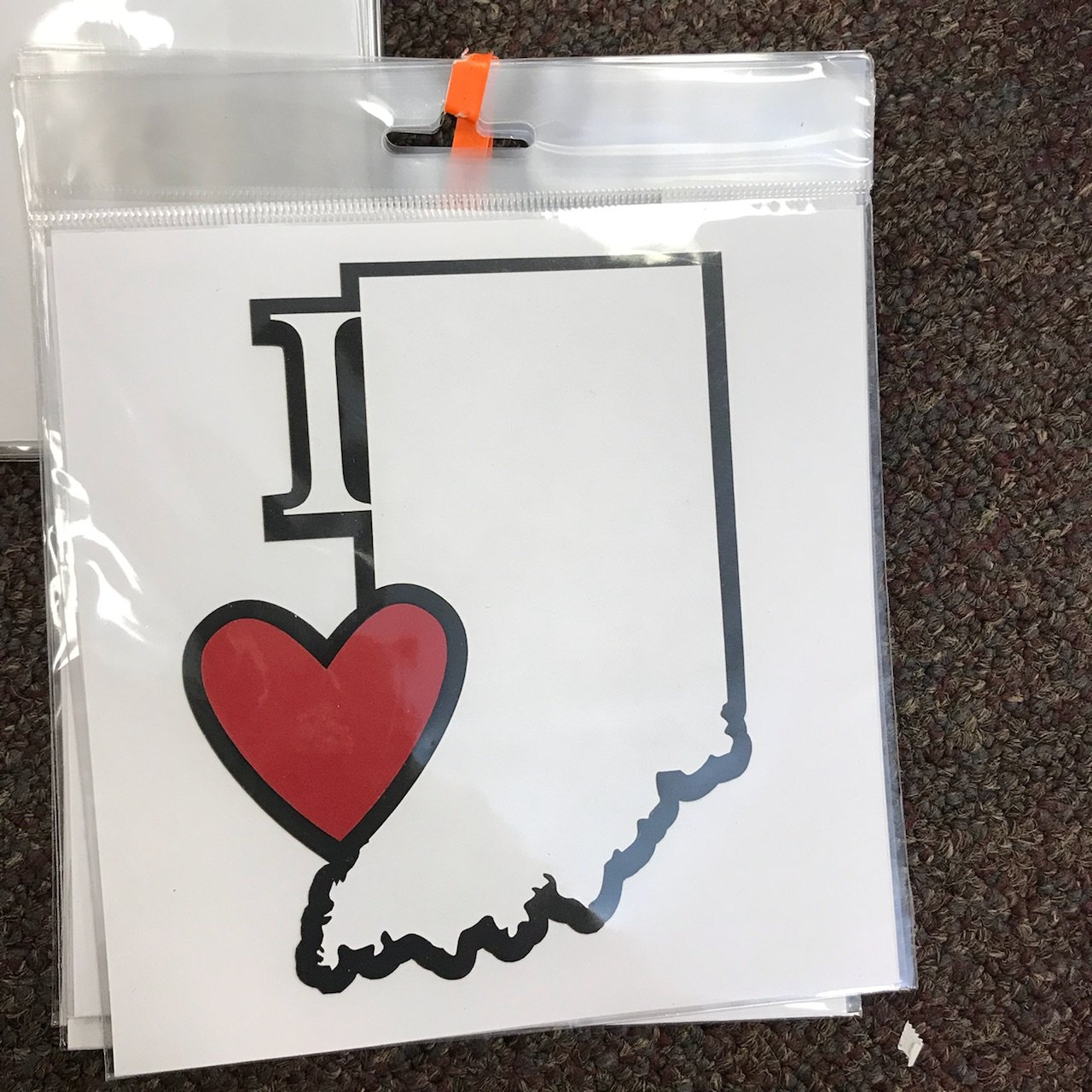 Scrapbook Customs Die Cut-I LOVE Indiana