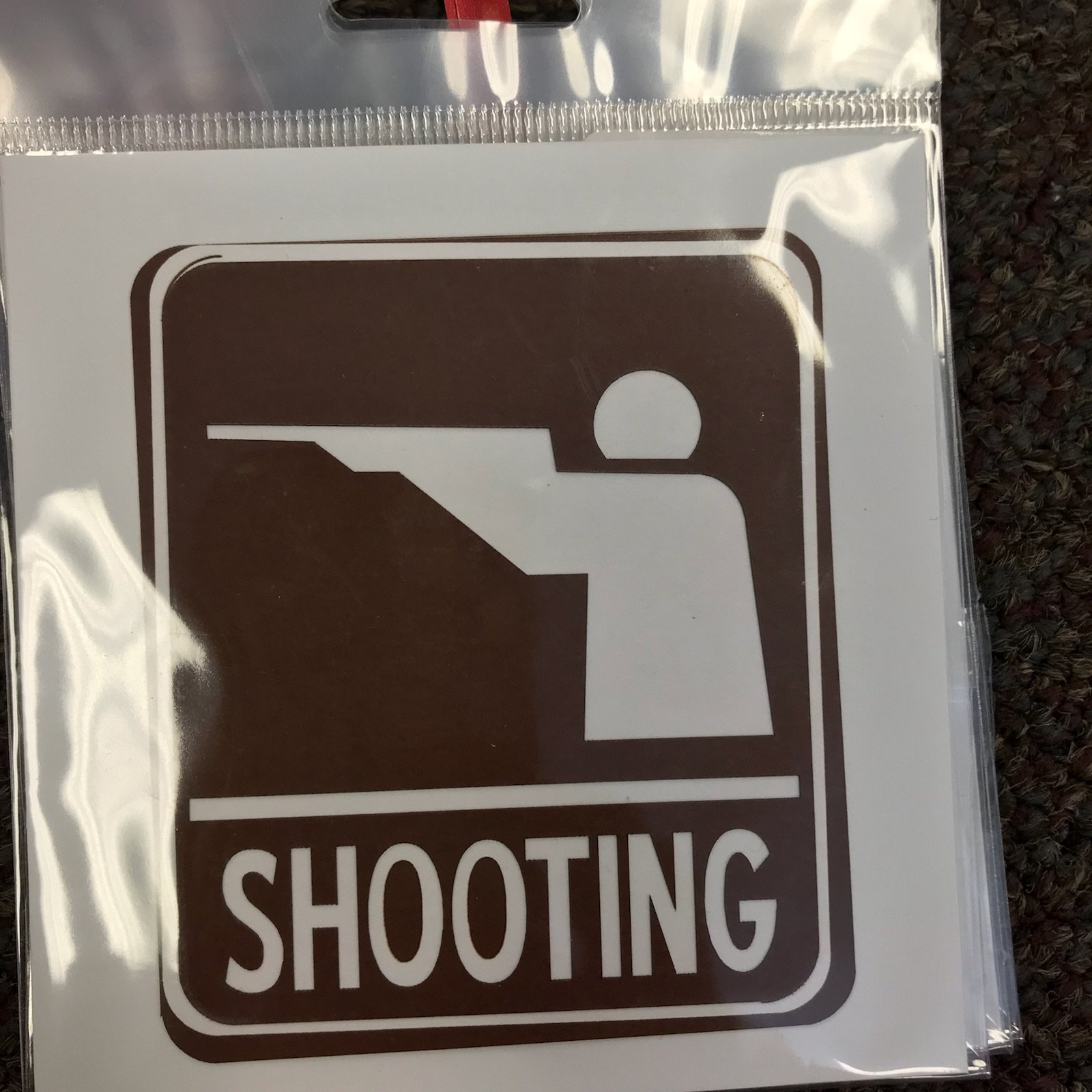Scrapbook Customs Die Cut- Shooting Sign