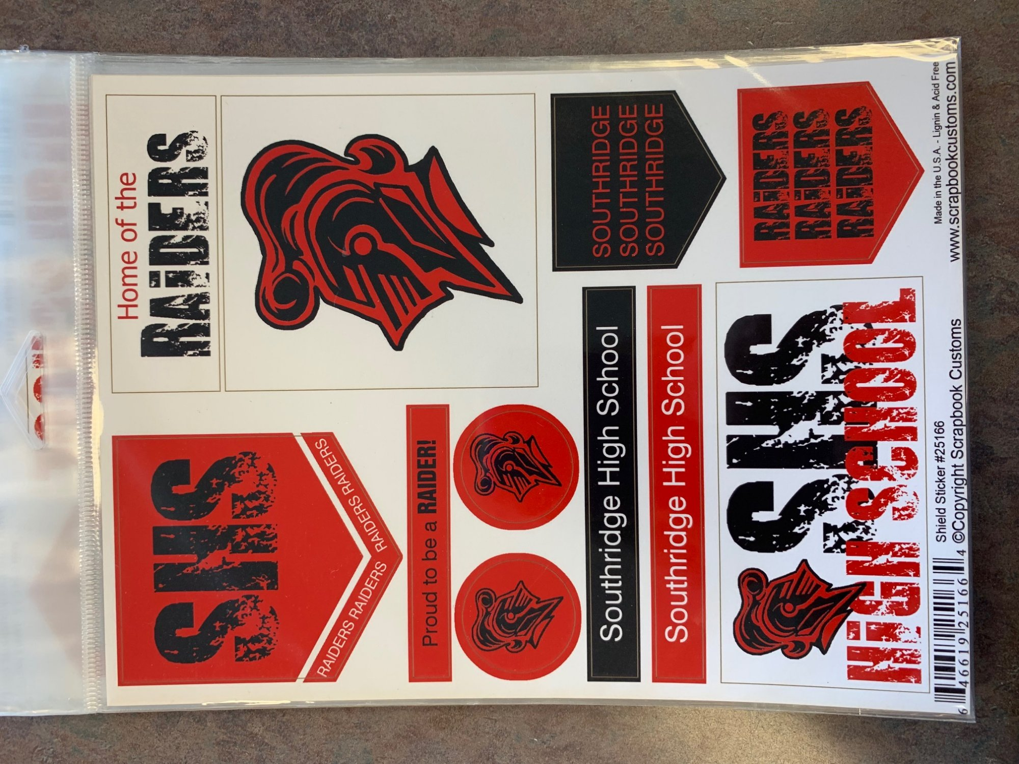 Southridge Custom School Shield Stickers