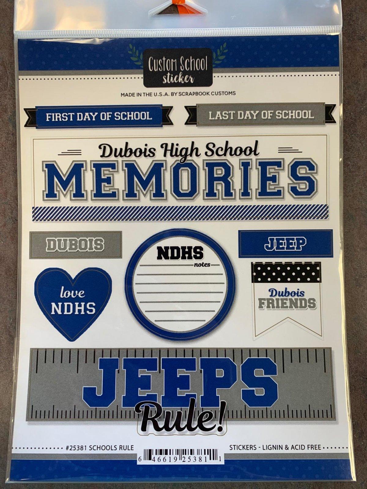 Schools Rule Custom School Sticker