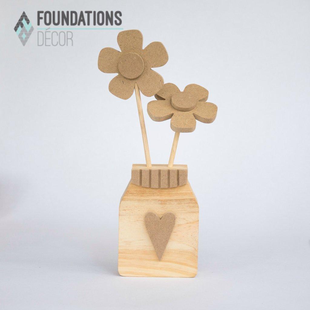 Flower Jar- Foundations Decor Wood Craft