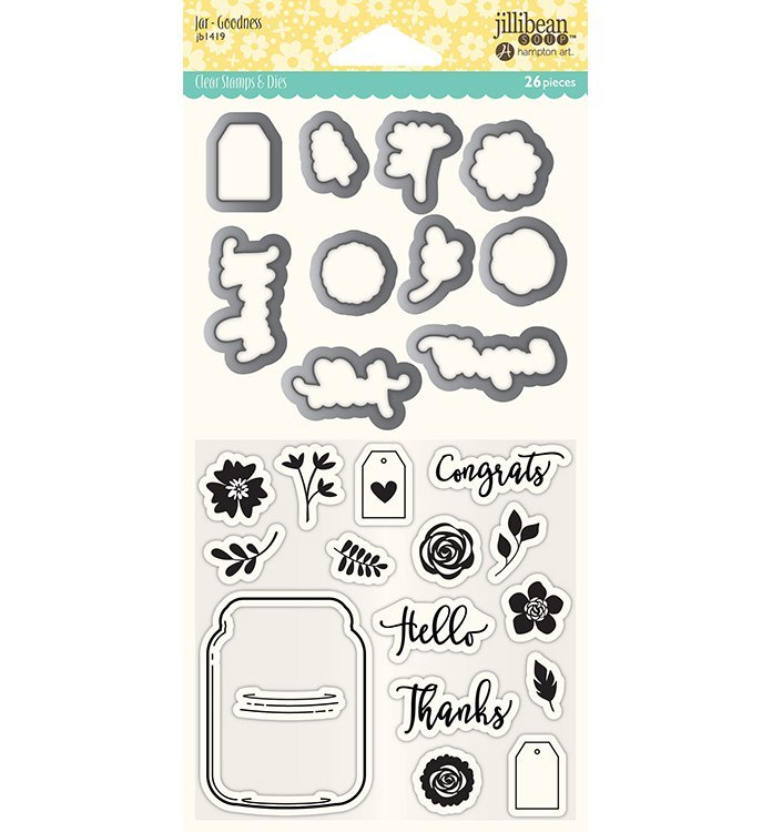 Jillibean Soup Clear Stamp Set- Jar Goodness