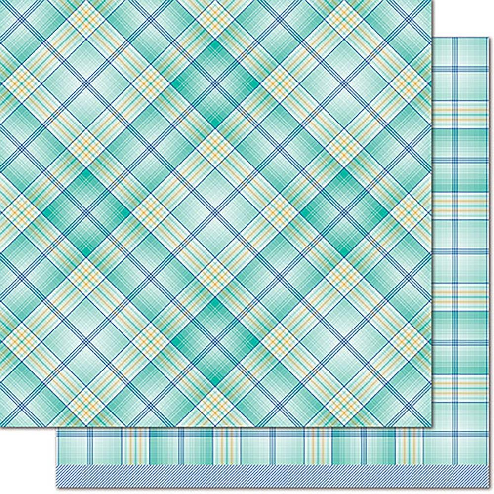 Lawn Fawn Perfectly Plaid Chill 12- Keep Calm