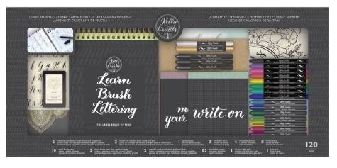 Kelly Creates Learn Brush Lettering Kit