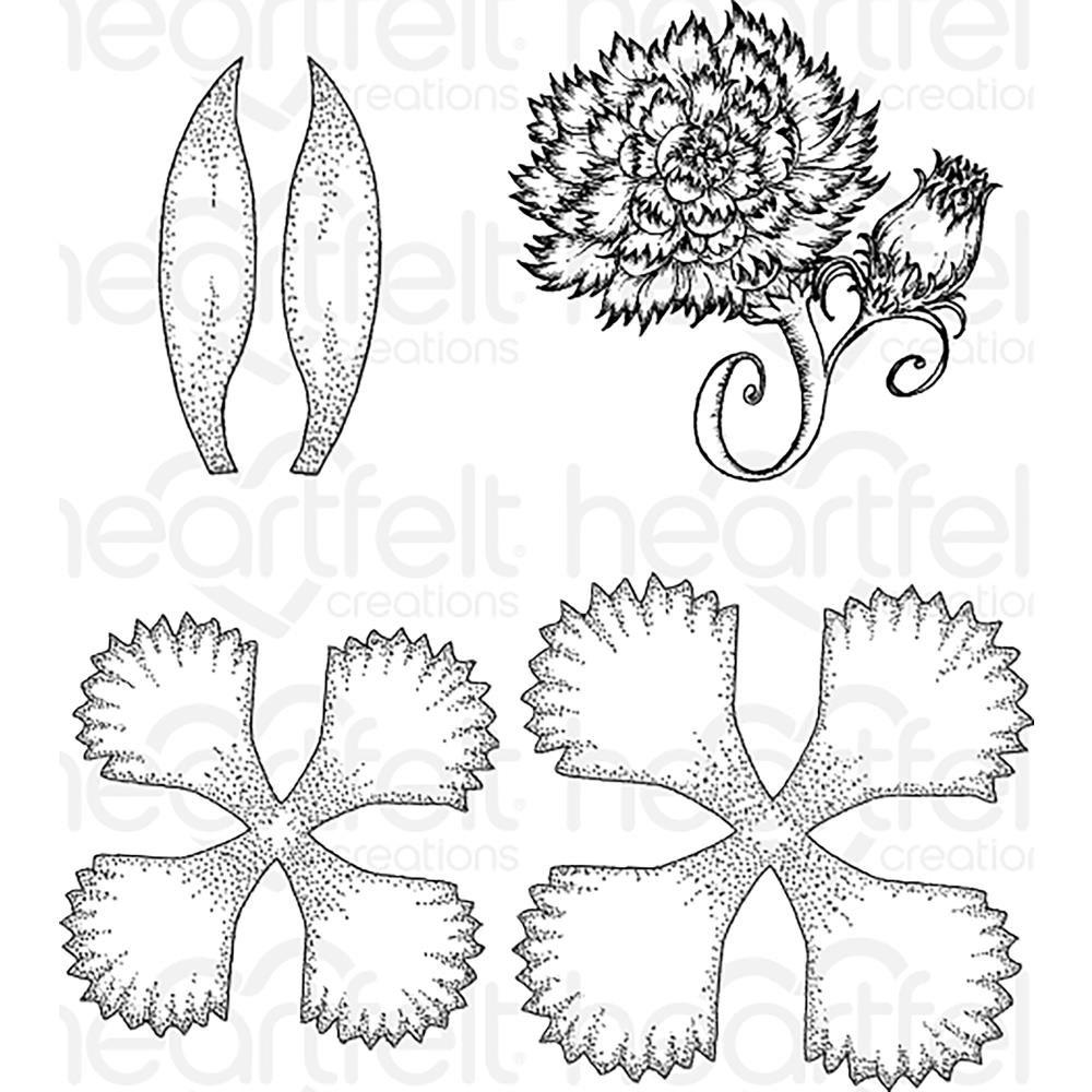 Heartfelt Creations-Large Camelia Carnation Stamp Set