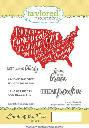 Taylored Expressions stamp- Land of the Free