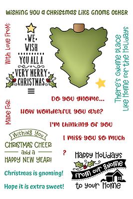 Holiday Gnomes Sentiments Stamp Set LDRS