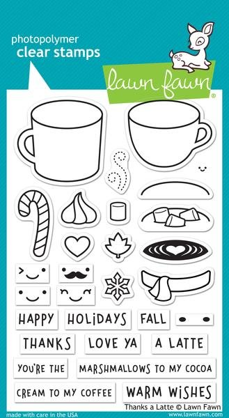 Lawn Fawn Stamp-thanks a latte