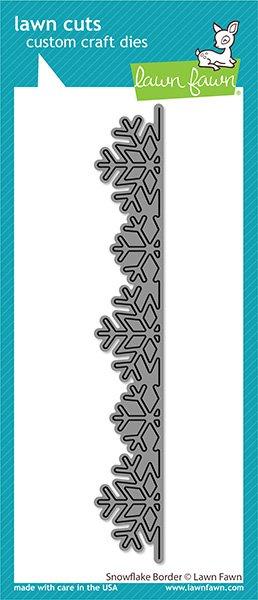 snowflake border -Lawn Fawn