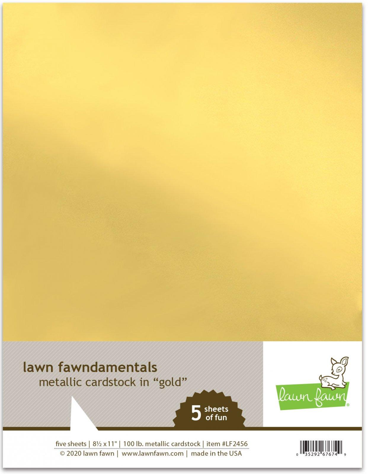 metallic cardstock - gold -Lawn Fawn