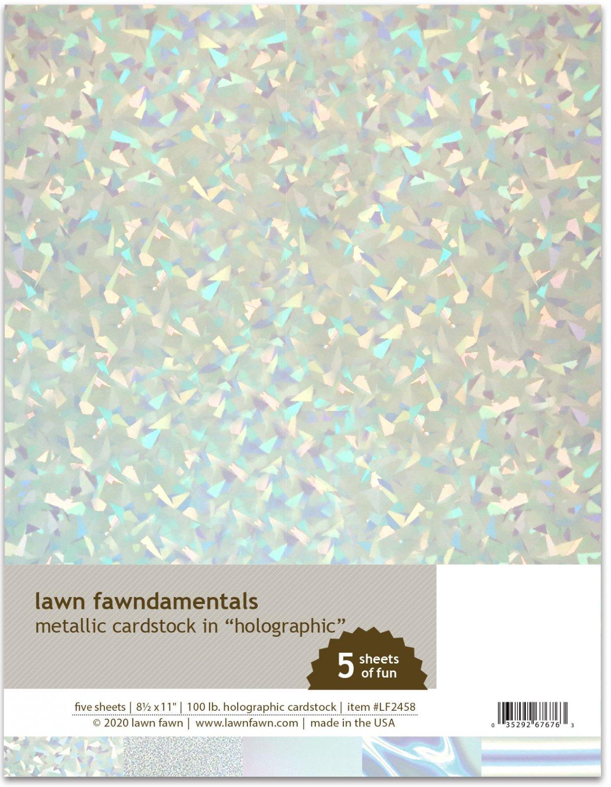 metallic cardstock - holographic -Lawn Fawn