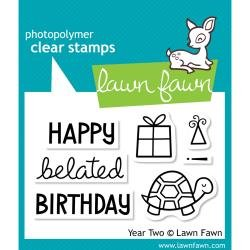 Lawn Fawn Clear Stamps 3X2 Year 2
