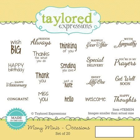MANY MINIS - OCCASIONS- Taylored Expressions
