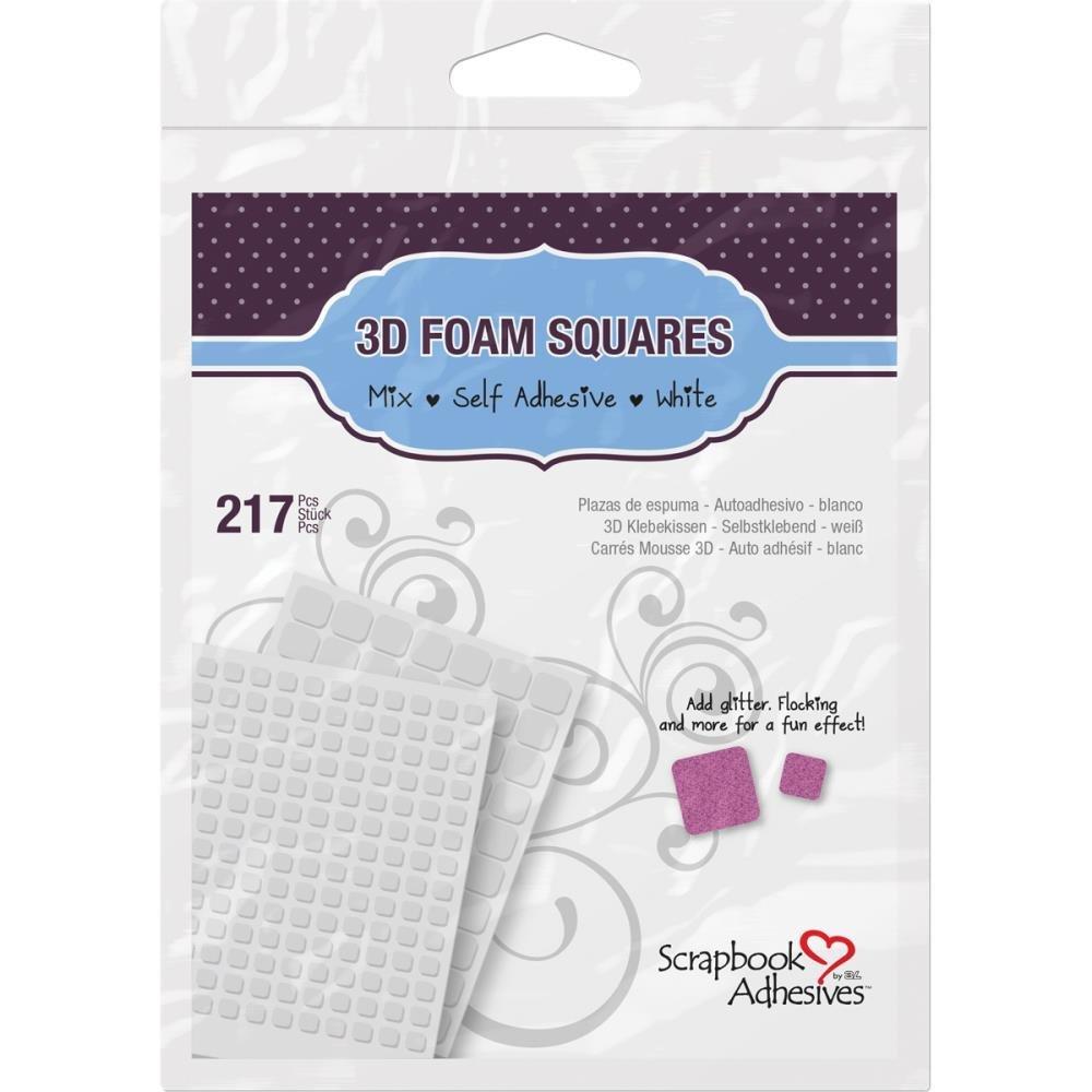 Scrapbook Adhesives 3d foam Squares-mixed
