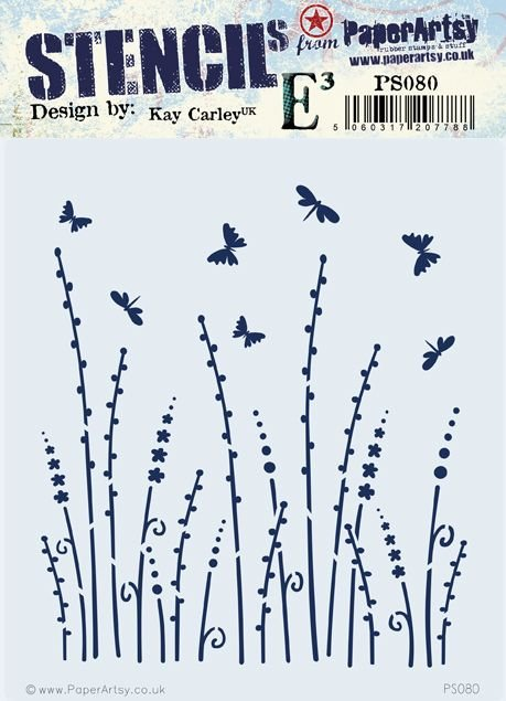 PS080 PaperArtsy Kay Carley Stencil PS080
