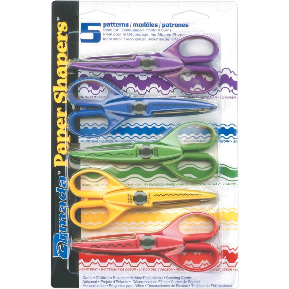 Paper Shapers Scissors 5/Pkg Set 1
