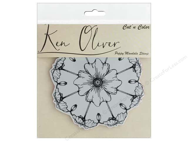 Ken Oliver Cut'nColor stamp- Poppy Mandala