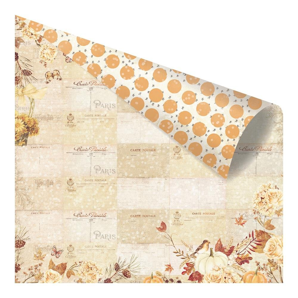 Prima Amber Moon Paper- FALL POSTCARDS FROM PARIS
