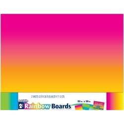 Rainbow Posterboard 2pk