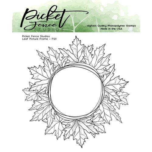 Leaf Picture Frame stamp - Picket Fence