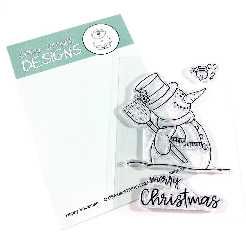 Happy Snowman- Gerda Steiner Designs 3X4 Clear Stamp Set