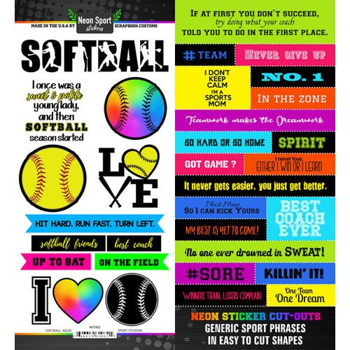 Scrapbook Customs Sticker- SOFTBALL