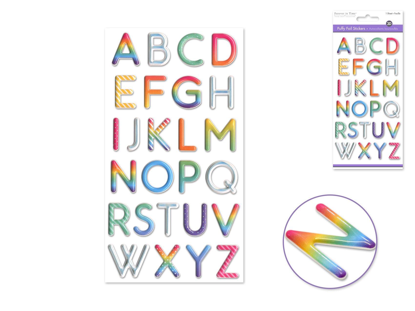Puffy Alphabet- Rainbow Alpha