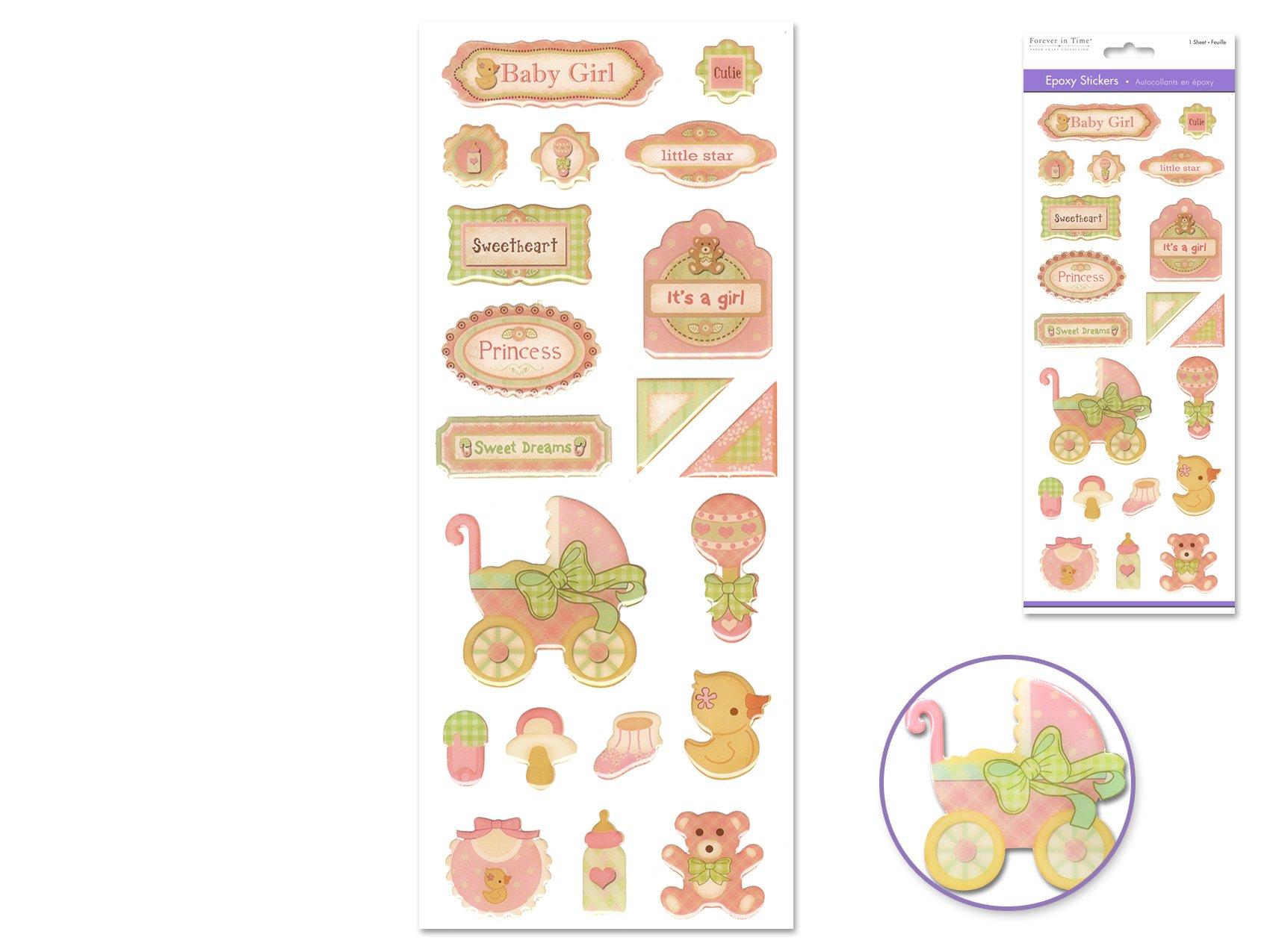 Epoxy Stickers-Baby Girl