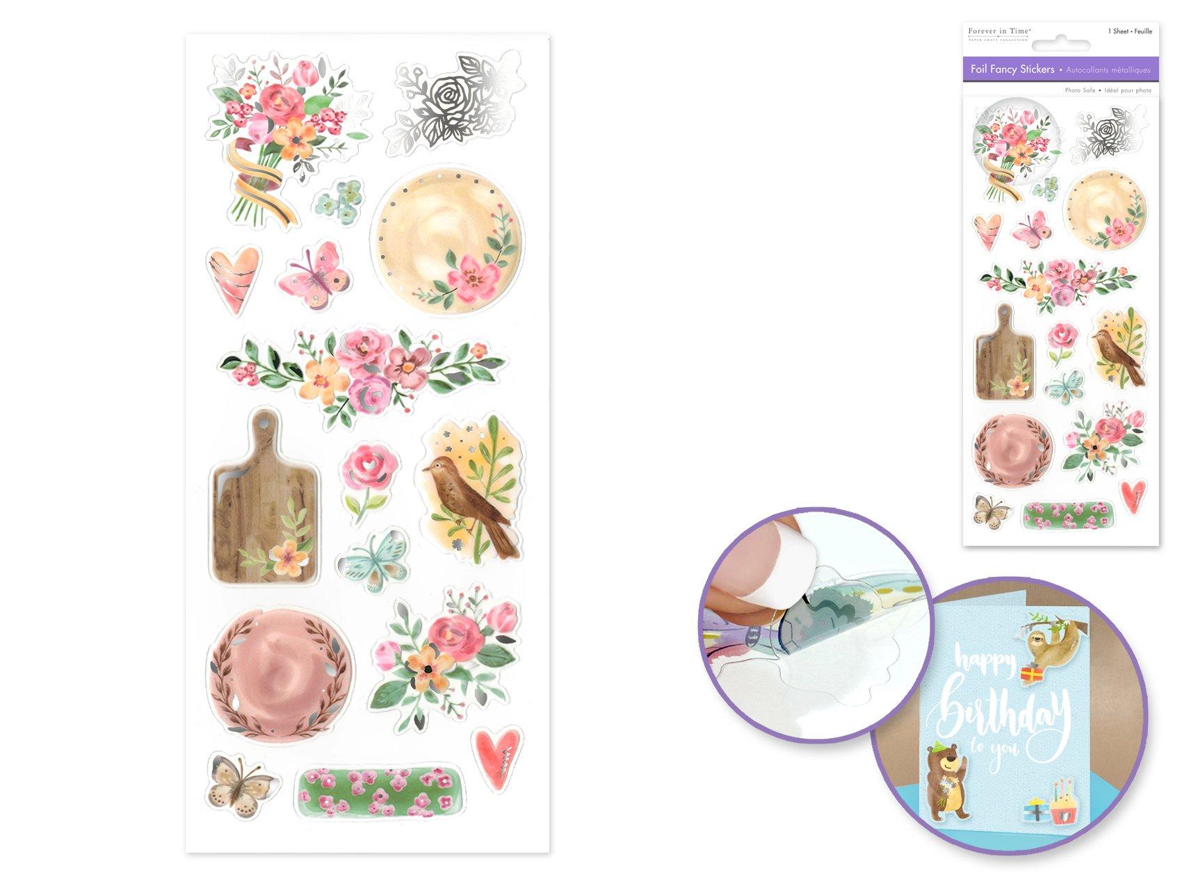 Fancy Foil Stickers- Vintage Floral