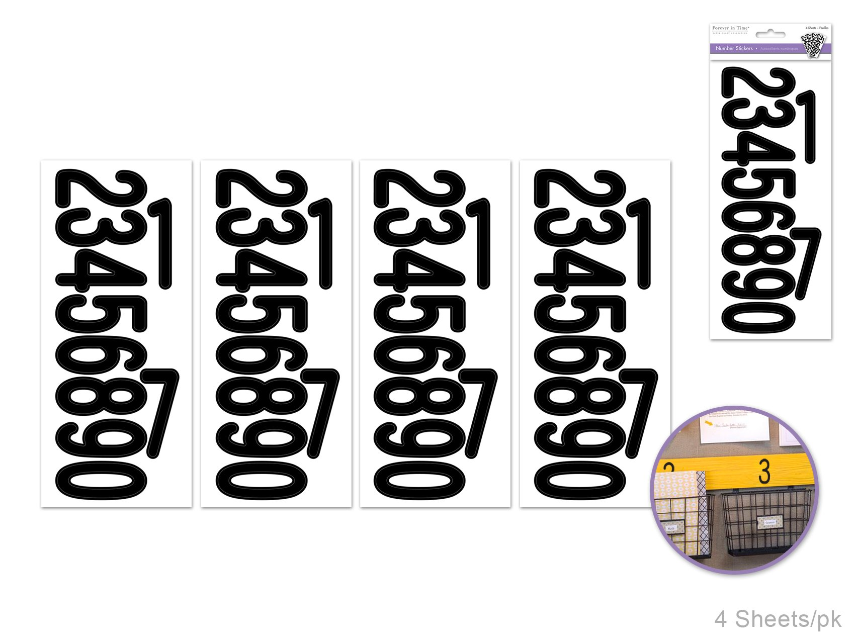 Numbers- Forever in Time Stickers