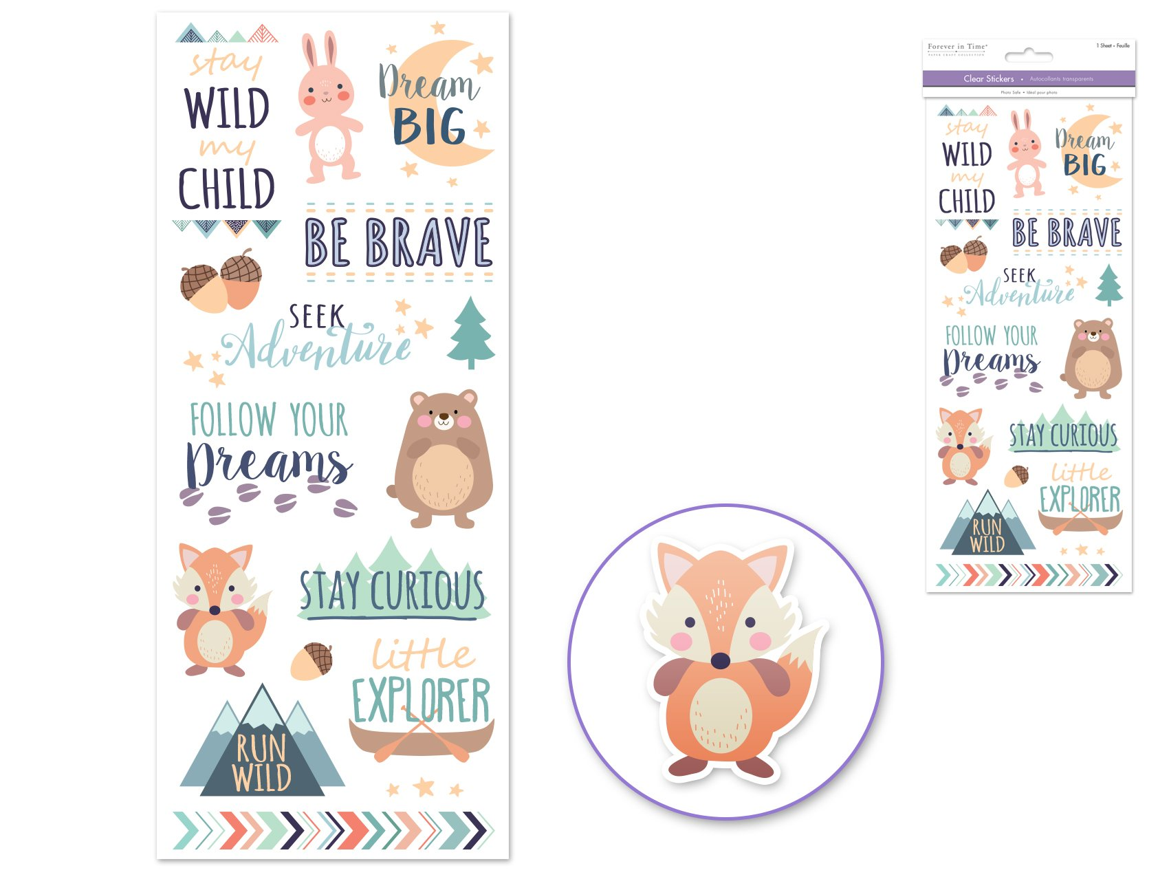 Clear Stickers- Stay Wild My Child