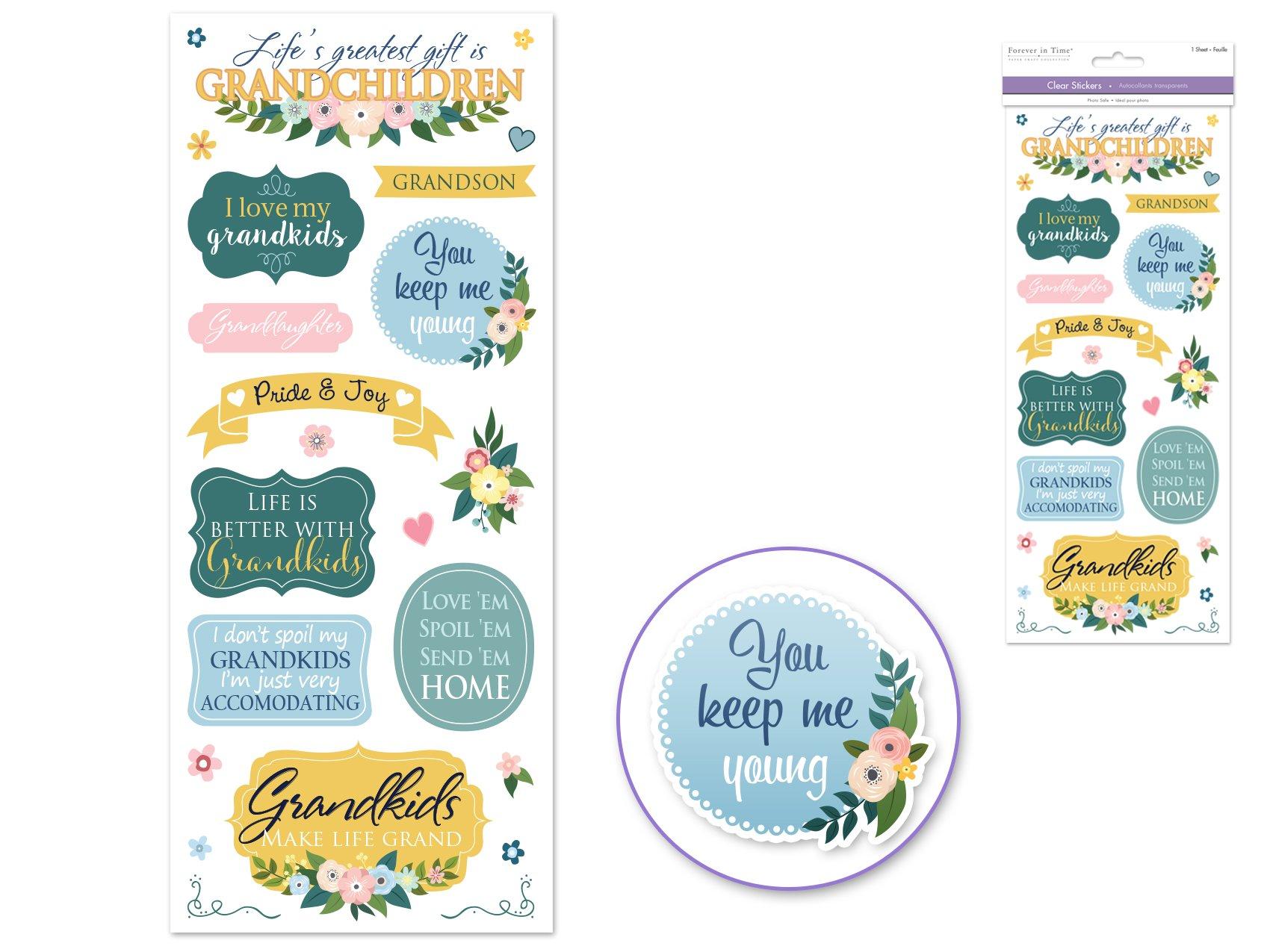 Clear Stickers- Love My Grandkids