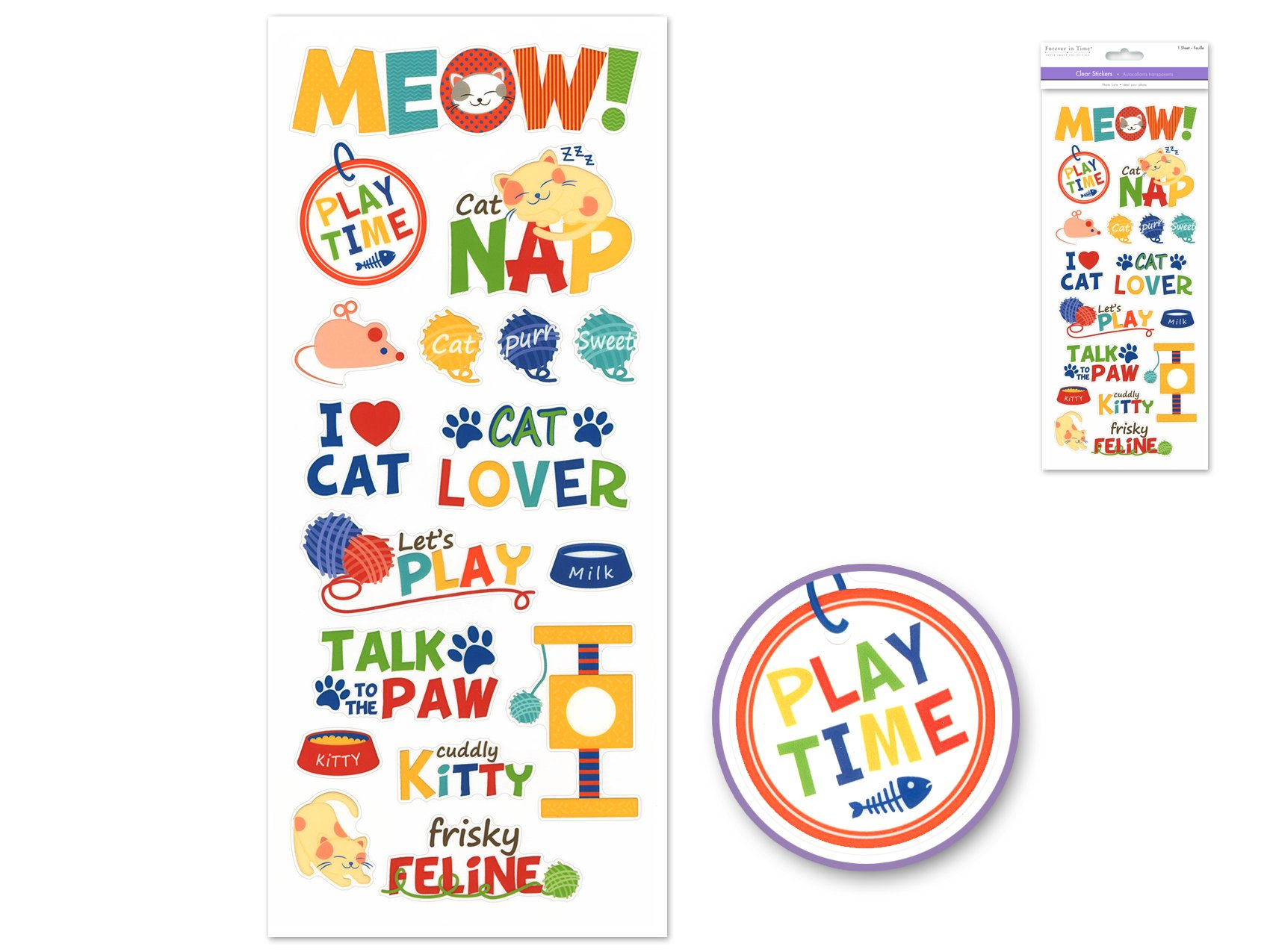 Meow- Forever in Time Stickers