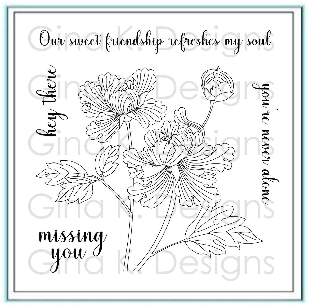 Sweet Friendship - Gina K Designs Stamp Set