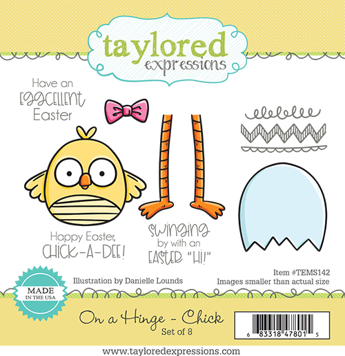 On a Hinge Chick- Taylored Expressions Stamp