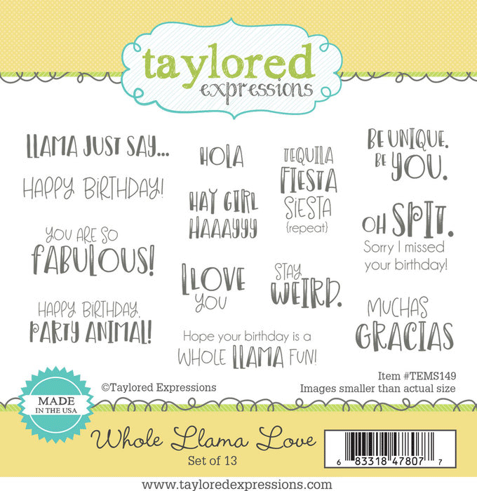 Whole Llama Love- Taylored Expressions Stamp