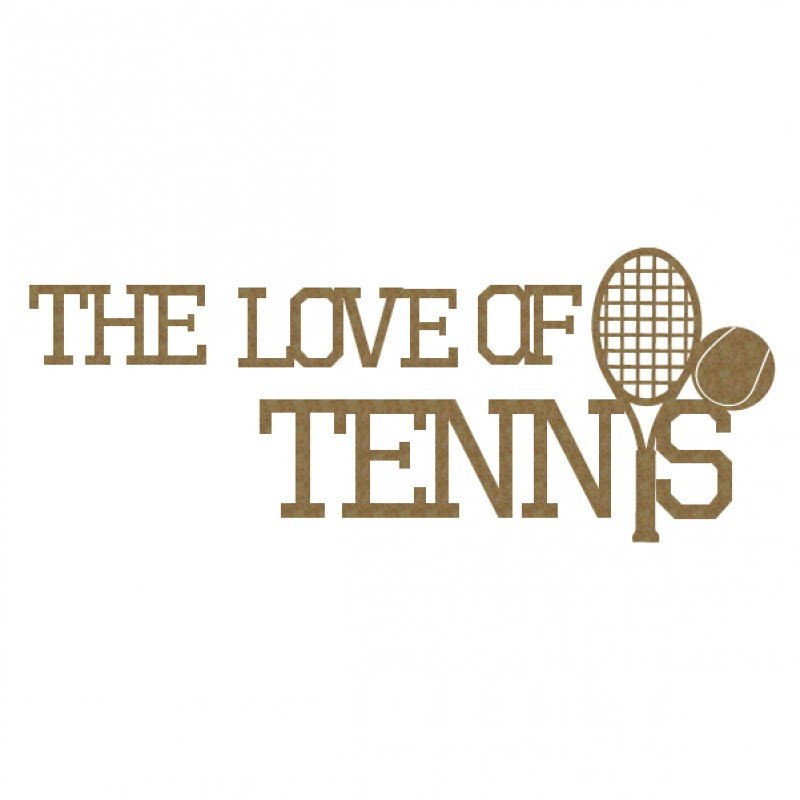 CE Chipboard- The Love of Tennis