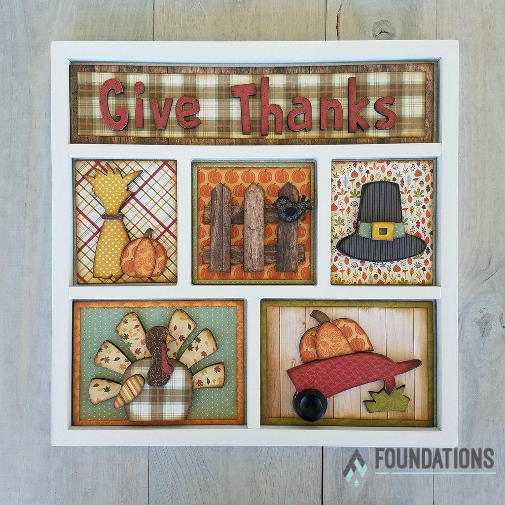 Shadow Box Kit- Give Thanks