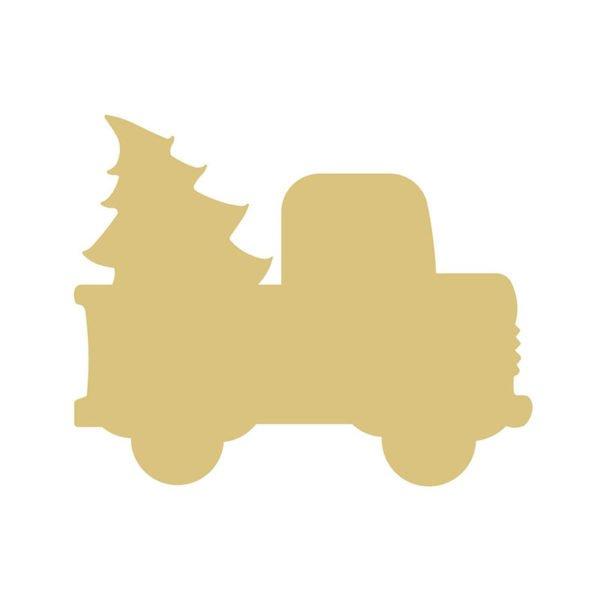 Christmas Truck- 6 MDF
